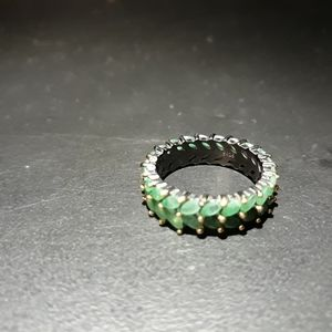 Natural Emerald Eternity Band a5
